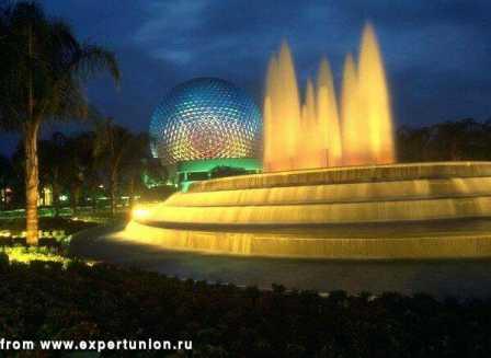 Ландшафтное освещение, подсветка фонтанов, подсветка деревьев 12