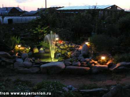 Ландшафтное освещение, подсветка фонтанов, подсветка деревьев 15